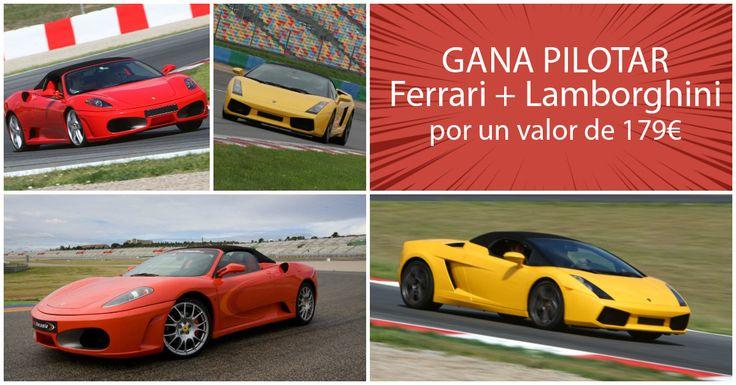 Este año, para celebrar el Día del Padre vamos a sortear un pack de PILOTAJE por valor de 179€! Apúntate y podrás ganar (para ti, o, aún mejor, para tu PADRE!) un premio ALUCINANTE para cualquier fanático de los coches. Se tratade DOS vueltas de pilotaje (una en Ferrari F430 y otra en Lamborghini Gallardo) en nuestros circuitos largos de Montmeló (Barcelona), Jarama (Madrid), Cheste (Valencia) o Los Arcos (Navarra). O, si prefieres, puedes escoger CUATRO vueltas (dos en el Ferrari y dos en…