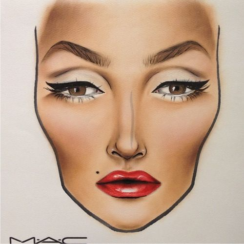 Mac red lipstick template
