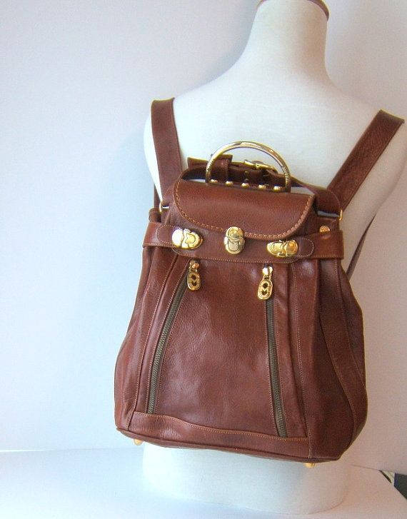 Vintage Brown Leather Marino Orlandi by LeGrenierSinclair on Etsy