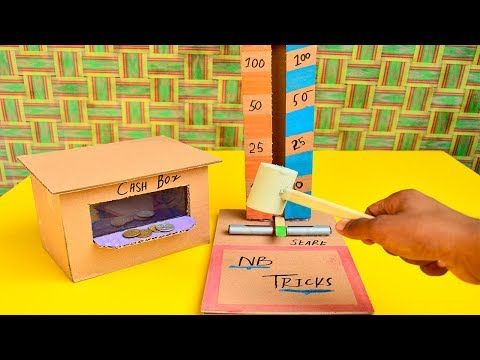 How To Make Mr Hammer Machine Game With Cardboard - YouTube