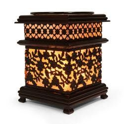 """Wholesale Metal Asian Floral Style Oil Warmers, These Are 6"""" Tall. Dish Is Removable for Easy Clean Up. Uses One 35 Watt Halogen Bulb (Included). Power Cord Measures 5' in Length and Has Dimmer Switch Allows You to Control the Intensity of the Light to Warm the Oil to Your Desired Fragrance Level. Replacement Bulbs Available (Item Hmm11). EDGE001 http://smile.amazon.com/dp/B00KY3EK40/ref=cm_sw_r_pi_dp_6E3Pub0XHZW1C"""