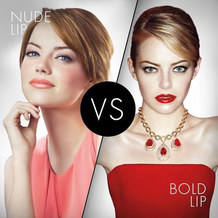 Bold or nude lips?