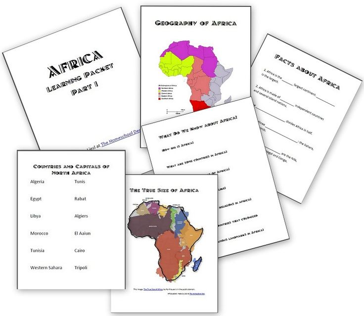 Africa Unit: Basic Facts About Africa - Homeschool Den