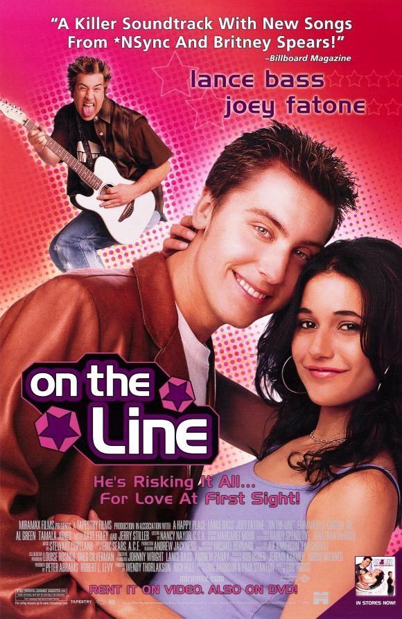 On The Line Movie Poster 27x40 Used Chris Kirkpatrick, Dan Montgomery Jr, Lisa Wegner, Ramona Pringle, Jenny Parsons, Louis Paquette, Al Green, Amanda Foreman, Dave Foley, Emmanuelle Chriqui, David Fraser
