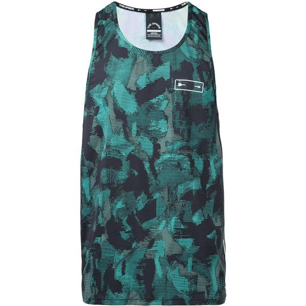 The Upside Camouflage Print Tank Top (3,760 INR) ❤ liked on Polyvore featuring men's fashion, men's clothing, men's shirts, men's tank tops, mens camo tank top, mens camo shirts, mens camouflage shirts and colorful mens dress shirts
