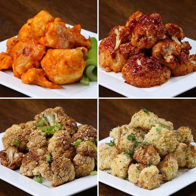 Cauliflower Bites 4 Ways | These Cauliflower Bites Will Make You Forget You're Eating Veggies