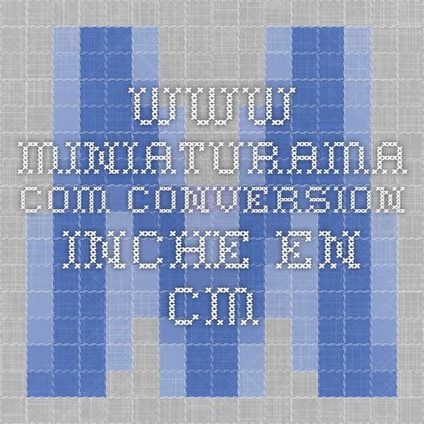 www.miniaturama.com conversion inche en cm