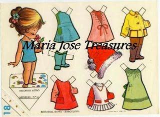 Coast To Coast Etsy Team Blog: Paper Doll Download from Maria Jose Treasures