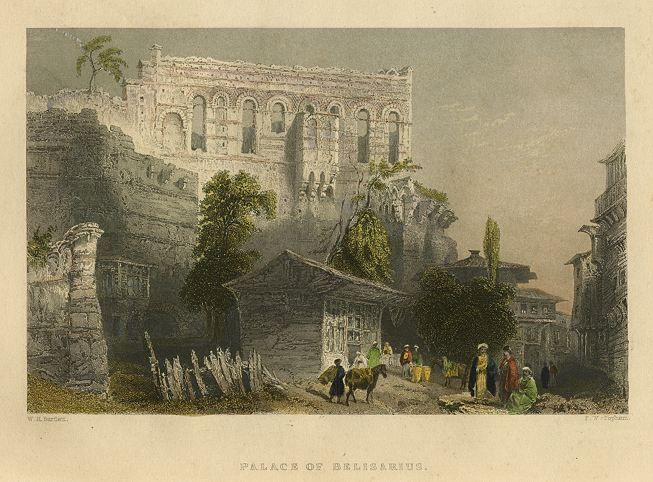 Turkey, Constantinople, Palace of Belisarius, 1850