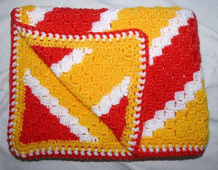 Corner to Corner blanket. Oblong shape