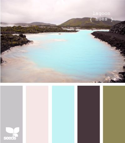 I think the dark brown and the grey would be good color for a couch and tables or bookcases, green on the walls, and blues and creams and anything else could be accented. Center pieces, wall art, etc..