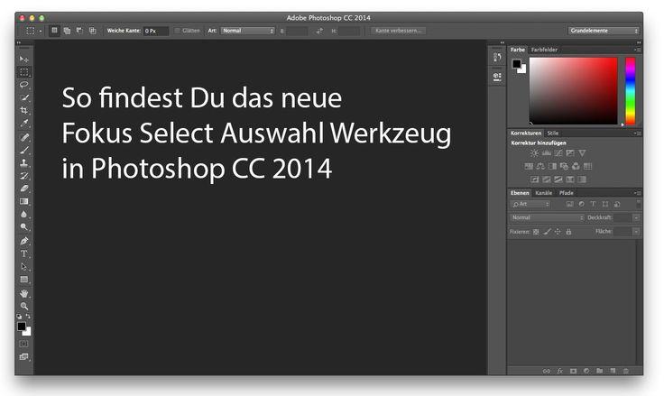 Wenn die Fokus Auswahl nach Photoshop Update nicht zu finden ist » FotoBlog