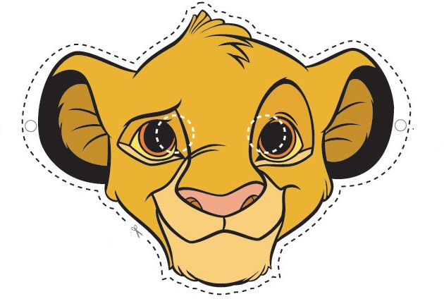 Horas entretenidas para los niños con esta careta de Simba del rey leon para imprimir  del mundo disney, este personaje es adorado por los ...