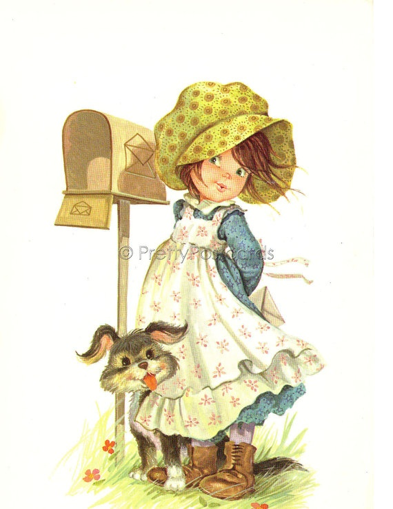 Will He Write Me a Letter Vintage postcard of a by PrettyPostcards, $4.25
