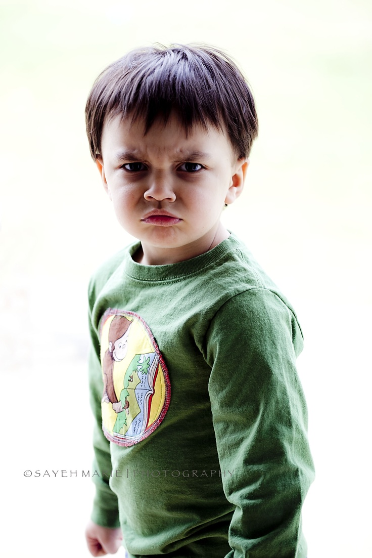 curious george/angry face three year old picture