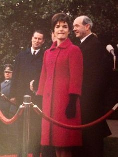 Jacqueline Kennedy biting her lip at a State Function.