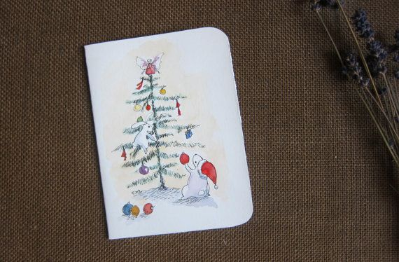 Hand made cards original artwork by Fahfield paint by Fahfield, kr35.00
