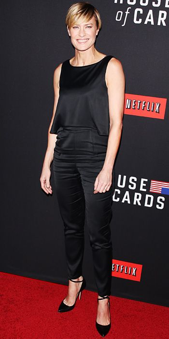 Look of the Day - February 16, 2014 - Robin Wright in Kate Spade Saturday #InStyle