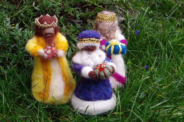 felted three kings