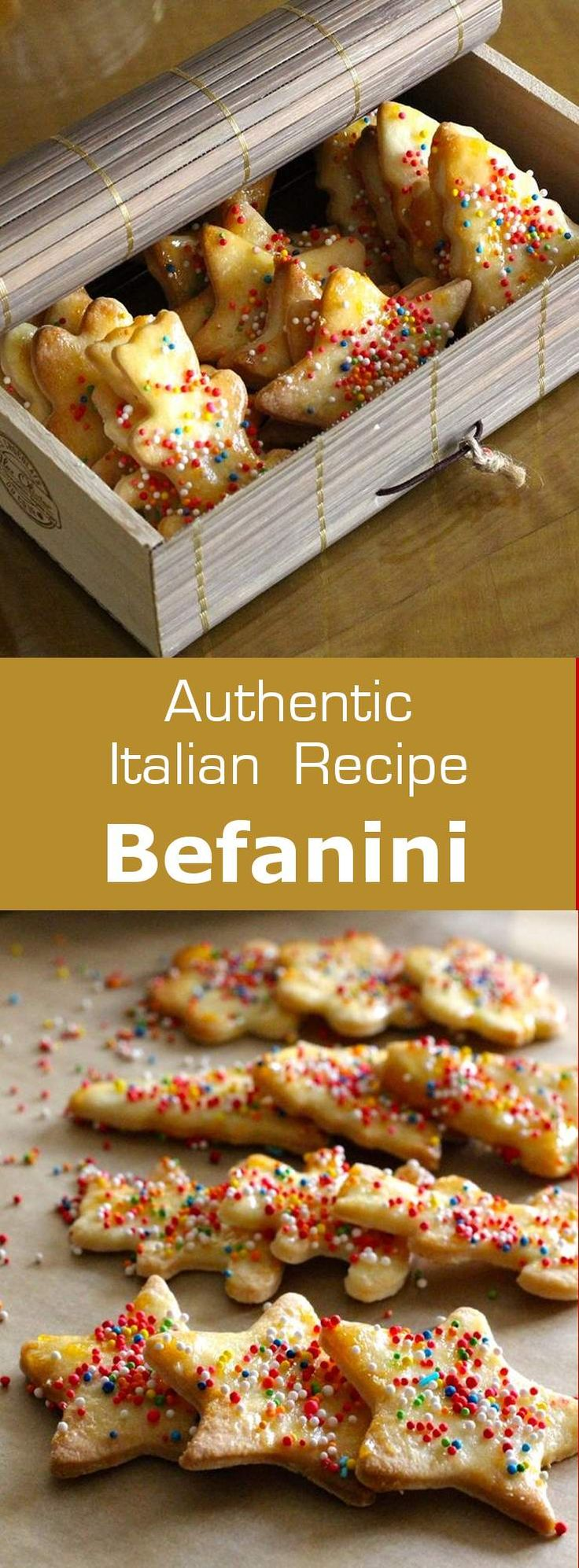 Befanini are small traditional shortbread cookies served in Italy on the day of Epiphany known over there as La Befana.