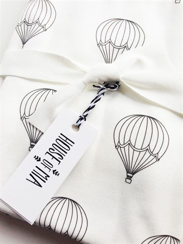 Archies. House of Mia - Hot Air Balloons Swaddle Blanket