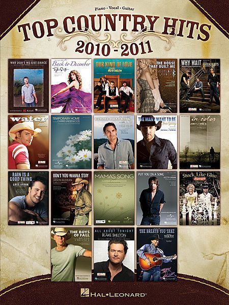 Top Country Hits of 2010-11 Piano Vocal Guitar Songbook Top Country Music Songs