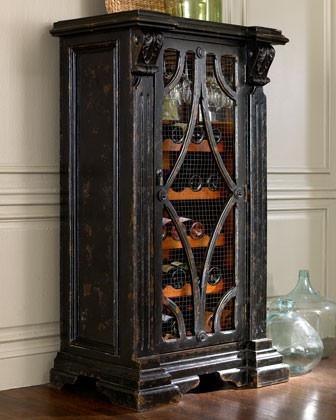 Rustic looking wine rack.
