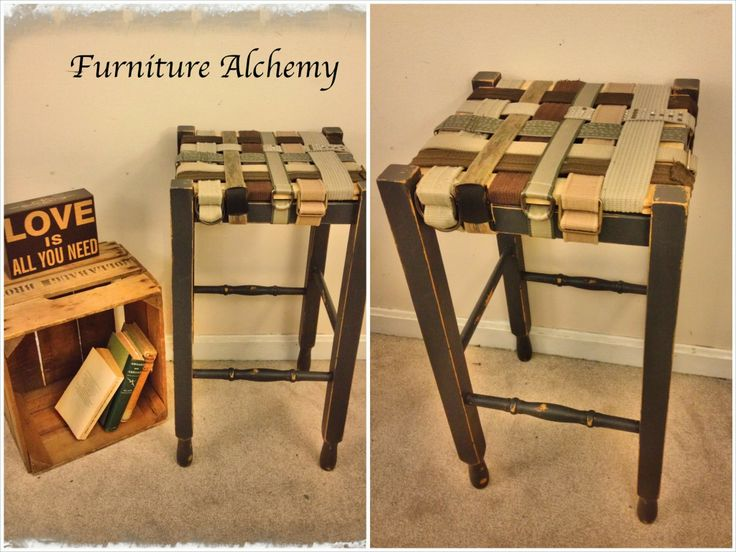 Thrift Store Belts Repurposed To Redo Stools, Maybe Strapping For Chairs  That You Are Upholstering