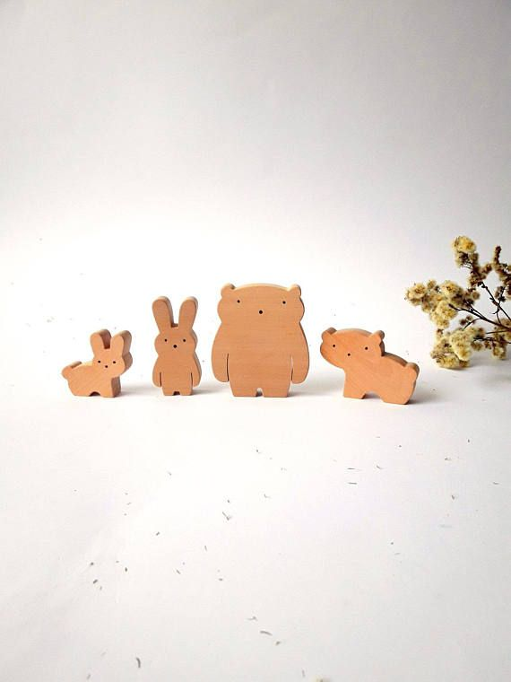 Baby Wild Animal Set. Our wooden toys are safe, ecological, natural and long-lasting. Simple design, playful and small size figures are perfect for little hands to hold and use in play. Let your child use their imagination & have fun creating their own story! Made from natural,