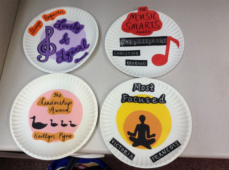 Paper plate awards for choir & 14 best Paper Plate Awards images on Pinterest   Paper plates Paper ...