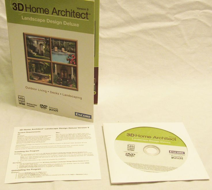 3D Home Architect Landscape Design Deluxe Version 9 #Encore #Computer #Home #Architect #Gardening #Landscaping #Ideas #eBay