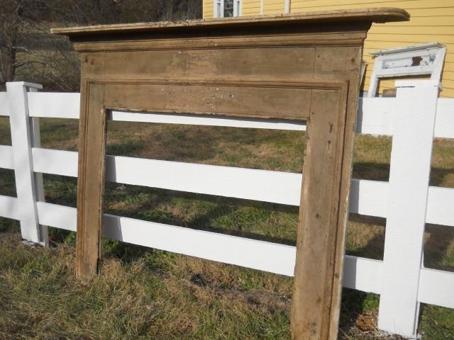 Best Antique Handmade Large Mantel Southern Yellow Pine 400 x 300