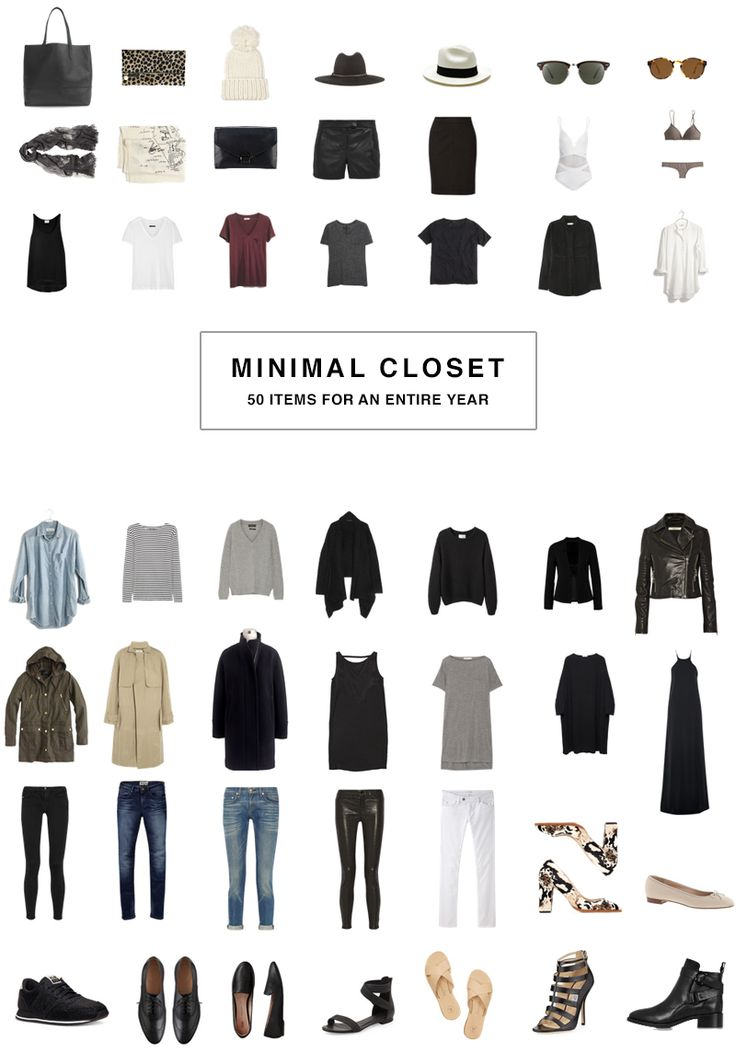 I've been loving the idea of a capsule closet-- a set of clothing (mostly basics, mostly essentials), normally around 24 items, which can be mixed and matched to create a wide variety of outfits--and am thinking of doing a season of it! either a summer capsule wardrobe or a fall capsule wardrobe. we will see! there a bunch of tips for minimalist wardrobes and packing light here!