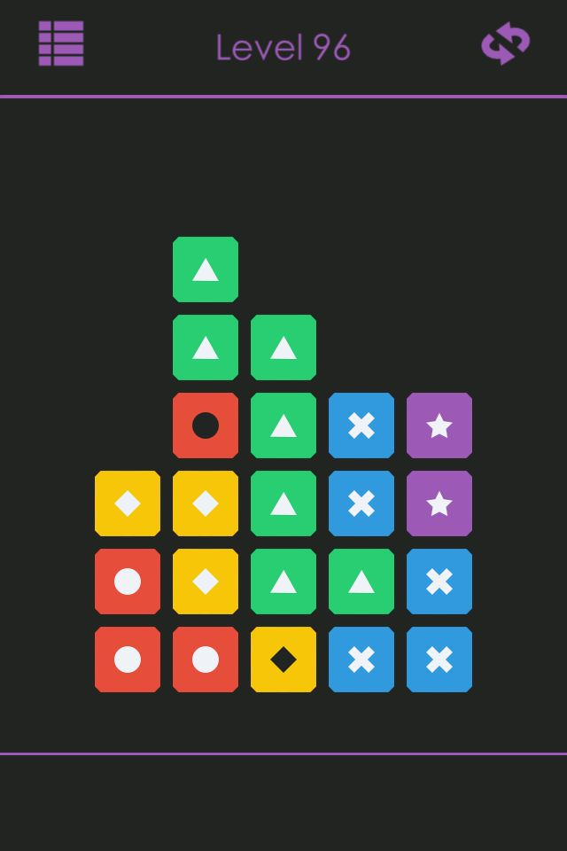 Flat design from Tileout iPhone game
