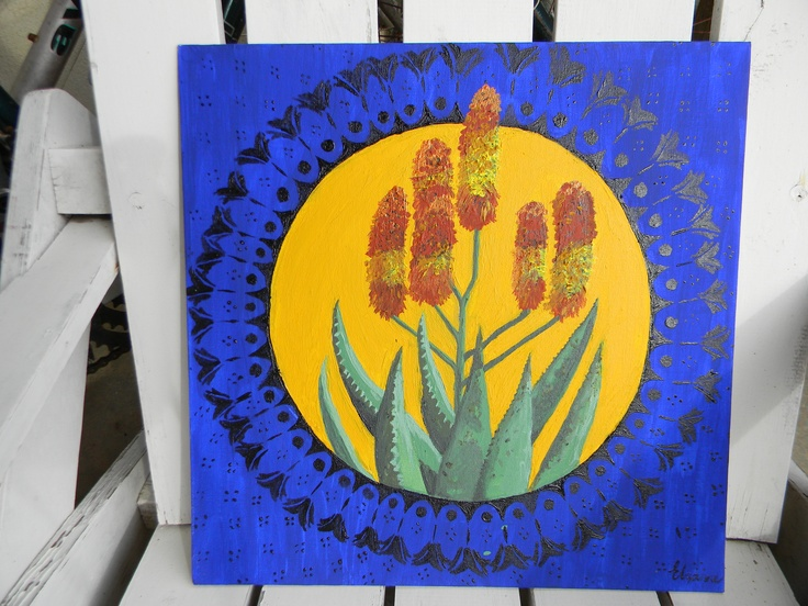Painting I did of a Aloe marlothii (indigenous to South Africa)