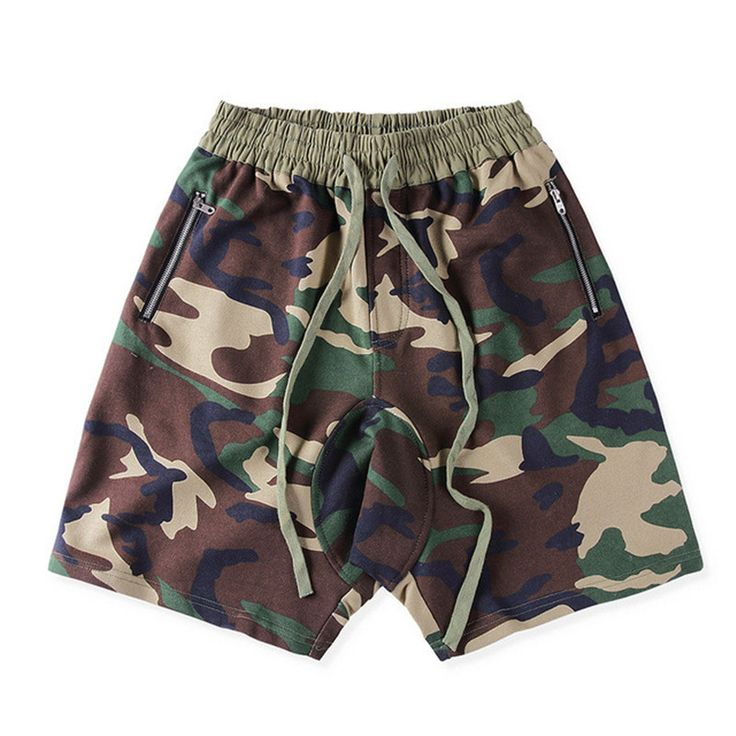 High Street Camo Sagging Shorts Men Hip hop Skateboard Army Military Camouflage Knee Length Beach Shorts Man 2017 Summer M-XXL
