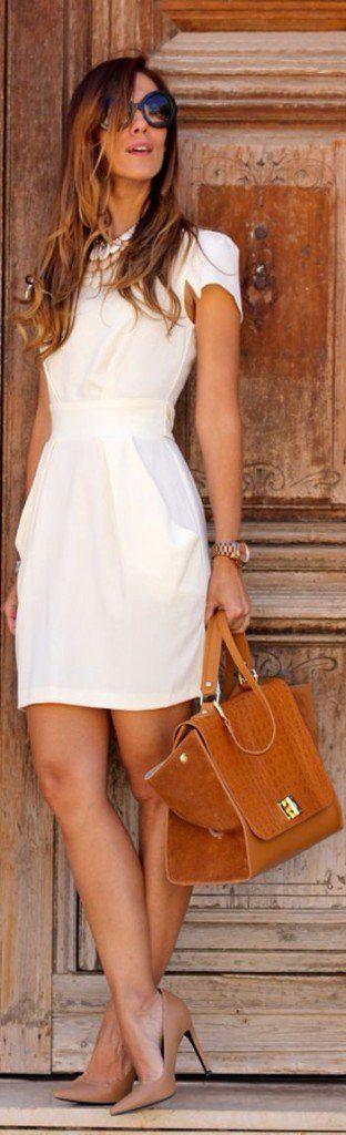 ropa blanca coco chanel vestido