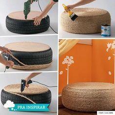 Arranhador para gatos feito com pneu - Gateiro                                                                                                                                                                                 Mais