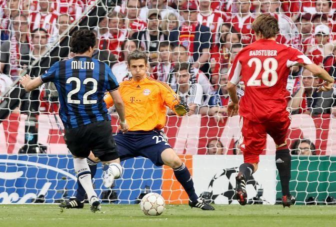 #Milito #goal Champions League #Bayern