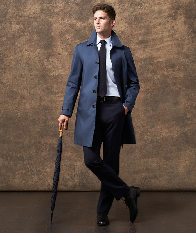 「raincoat men outfit spring」の画像検索結果