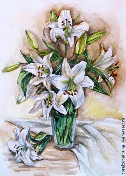 маленькие белые цветы в живописи - Поиск в Google