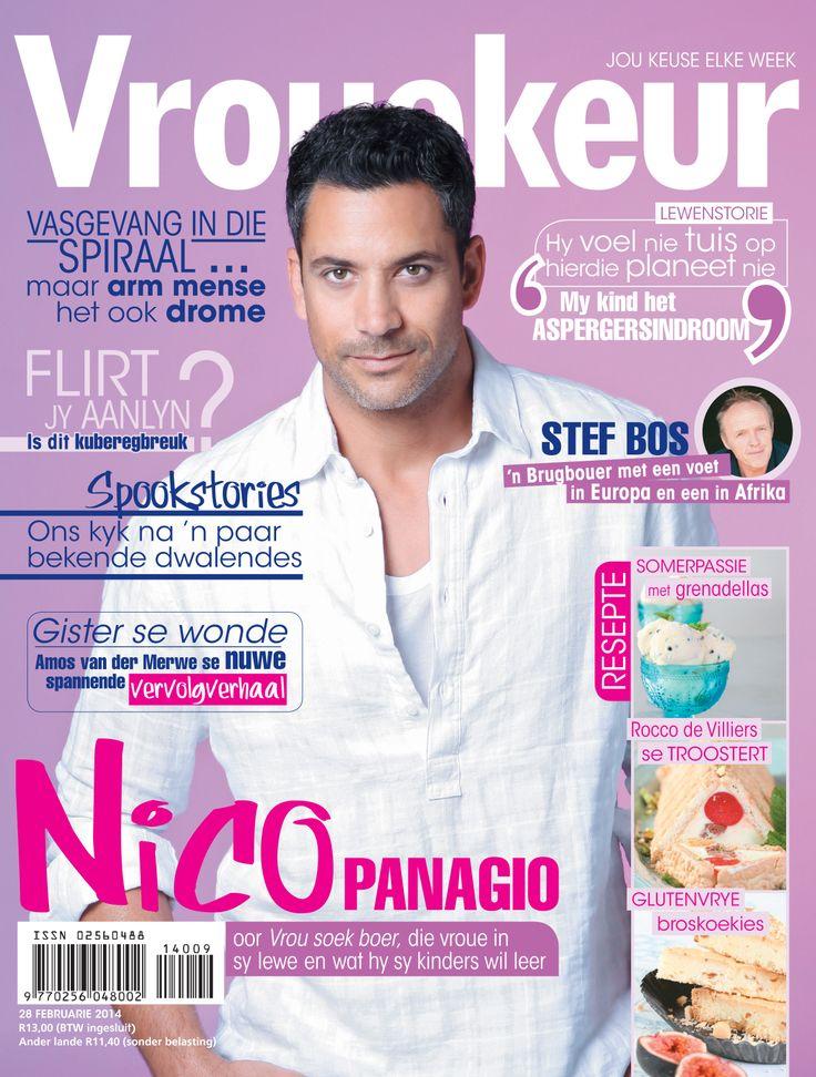 Nico Panagio op Vrouekeur se 28 Februarie 2014 voorblad.