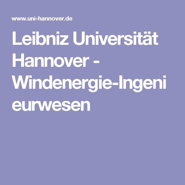 Leibniz Universität Hannover - Windenergie-Ingenieurwesen