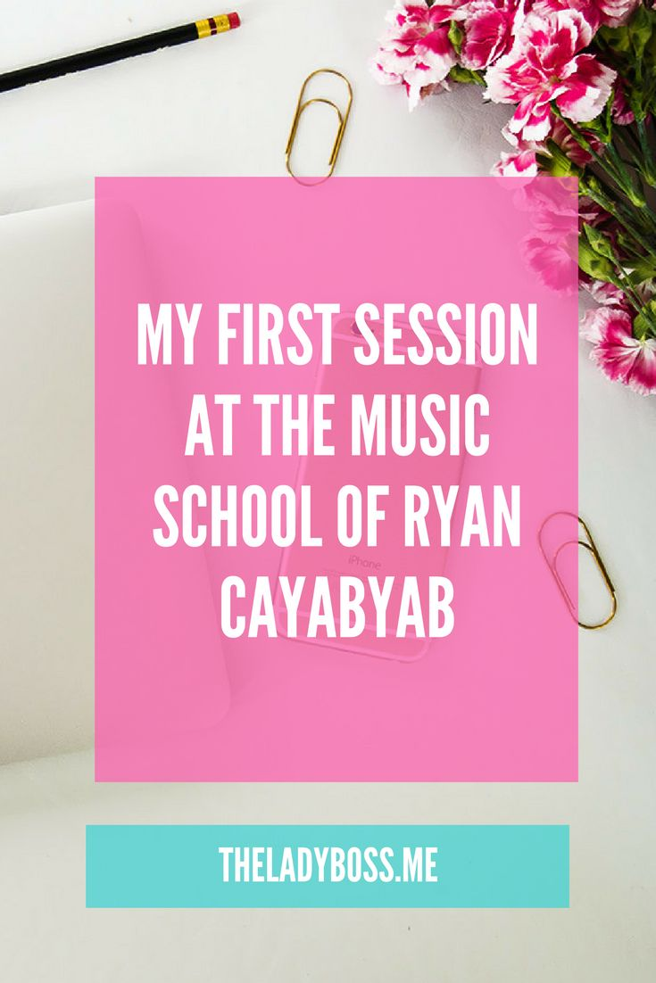 My First session at The Music School of Ryan Cayabyab - The Lady Boss