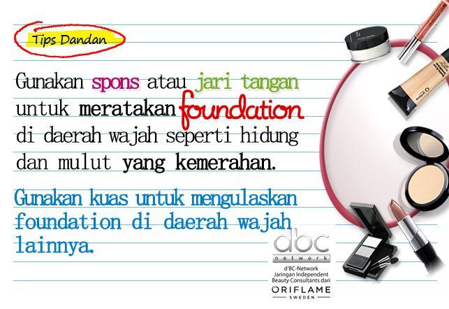 Tips meng-aplikasikan foundation