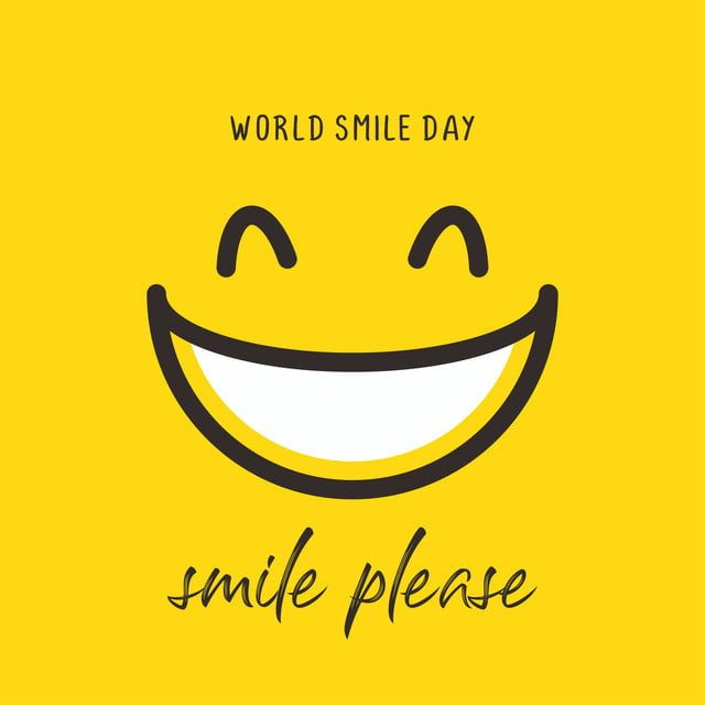 Happy World Smile Day Banner Vector Illustration Greeting Design On Yellow Background With Emoticon Drawing Smile Clipart Smile Day Png And Vector With Trans World Smile Day Vector Illustration Banner Vector