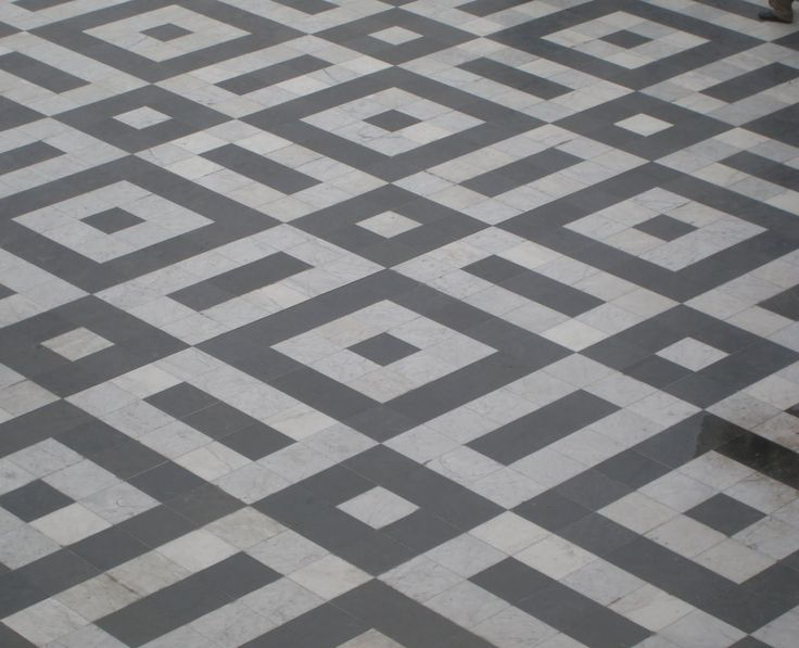 Antique floor mosaic from Paris | patroon 10x10 cm tegels dubbelhardgebakken