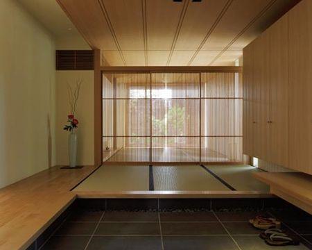 畳敷きの玄関 イメージ