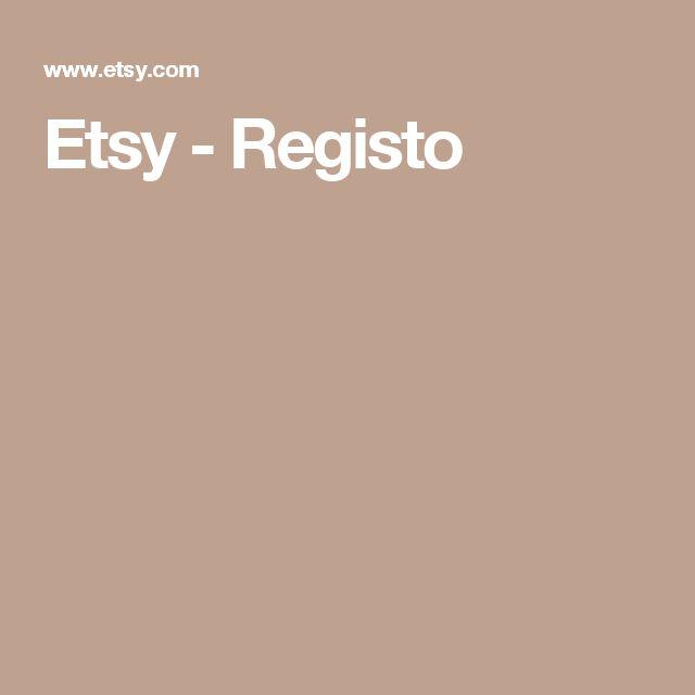 Etsy - Registo