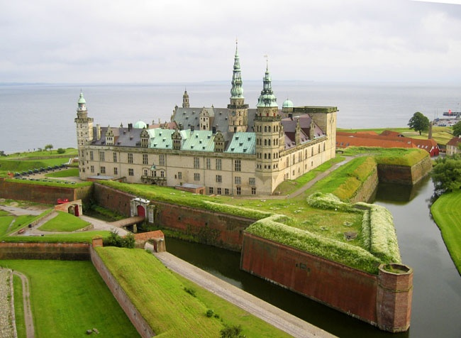 "Kronborg Castle - William Shakespeare's famous tragedy ""Hamlet"" takes place in the castle of Kronborg. Known by many as ""Elsinore"", the castle is located in Elsinore, North of Copenhagen."
